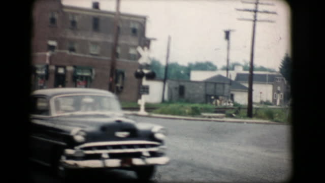 vintage new york street 1956 16mm (hd1080) - 1956 stock videos & royalty-free footage