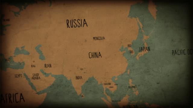 ビンテージオールドワールドマップシームレスなループ