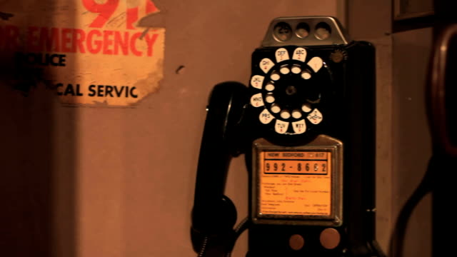 vintage pay phone, rotary, old telephone - rotary phone stock videos and b-roll footage