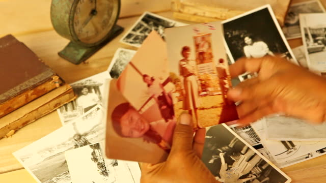 vintage photos - scrapbook stock videos & royalty-free footage