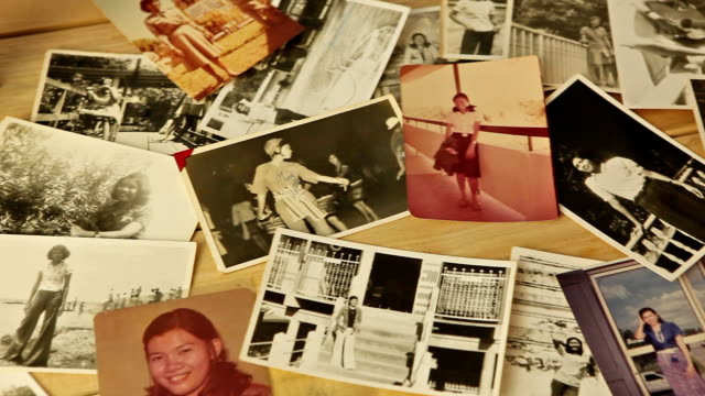 vintage photos - photo album stock videos and b-roll footage