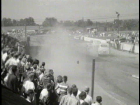 Vintage race car footage file or broll Great old footage showing the Grand Prix racing as well as some vintage rodeo and vintage race car stunts