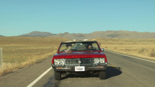 vintage red convertible driving - see other clips from this shoot 1138 stock videos and b-roll footage