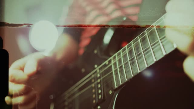 vintage rock guitarist playing guitar - rock music stock videos & royalty-free footage