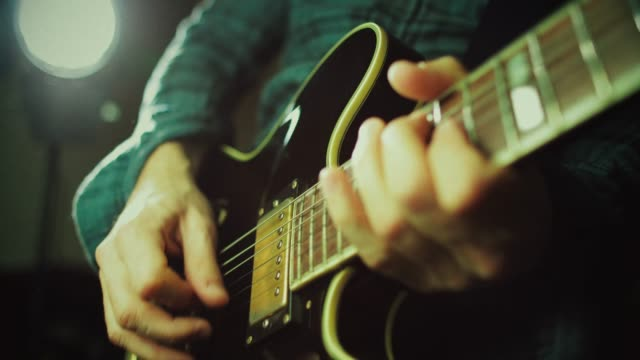 vintage rock series: guitar player - composer stock videos & royalty-free footage