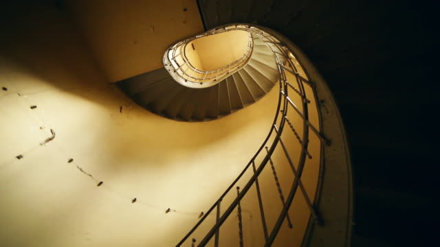 vintage spiral staircase - contrasts stock videos and b-roll footage