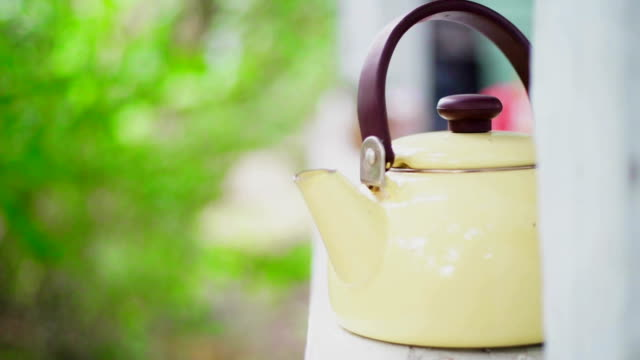 vintage style teapot - kitchenware department stock videos and b-roll footage
