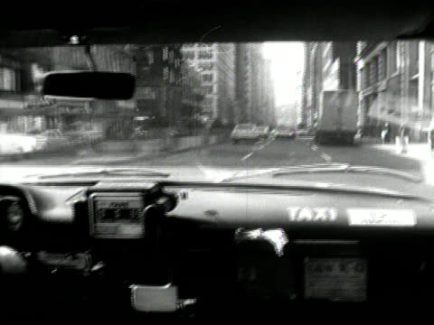 Vintage Taxi Ride in New York