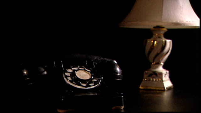 vintage telephone and lamp - telephone dial stock videos & royalty-free footage