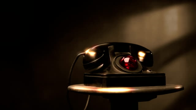 vintage telephone with blinking red light - eyelid stock videos & royalty-free footage