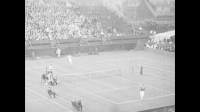 vintage tennis featuring suzanne lenglen with molla bjurstedt mallory arriving on court for their 2nd round match at the us championships in 1921... - whooping cough stock videos and b-roll footage