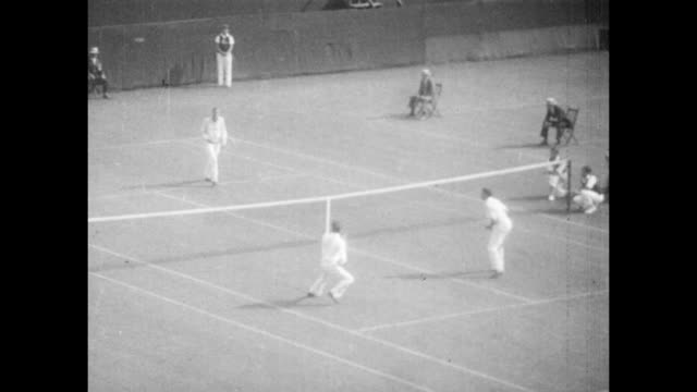 Vintage tennis featuring the United States against France in the 1927 International Lawn Tennis Challenge the 22nd edition of what is now known as...