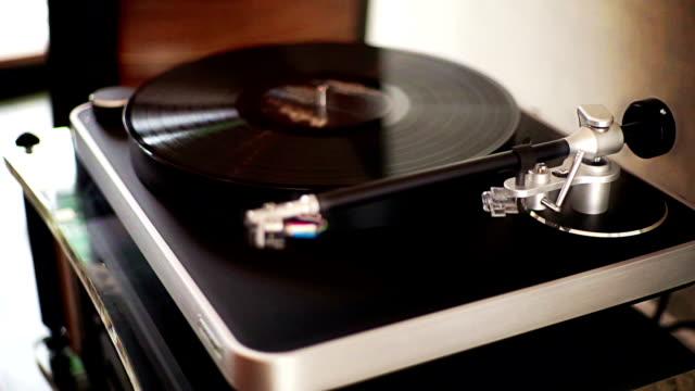 Vintage Plattenspieler Vinyl-Plattenspieler.