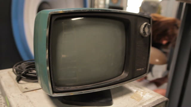 vintage tv - cathode ray tube stock videos and b-roll footage