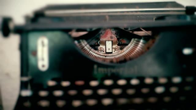 Vintage typewriter on the table.