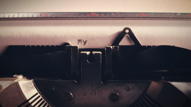 Vintage typewriter with the words 'my blog' being typed