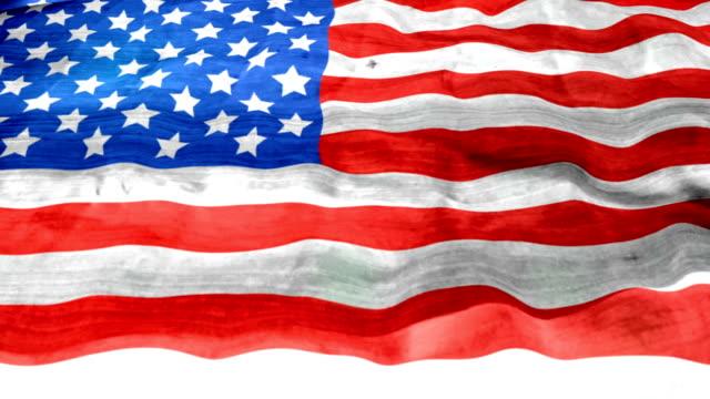Vintage United States Flag - looping, waving