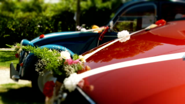 hd: vintage wedding cars - ornate stock videos and b-roll footage