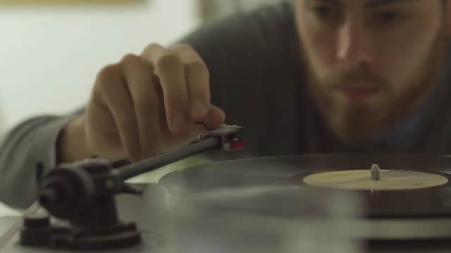 vinyl player - disk stock videos and b-roll footage