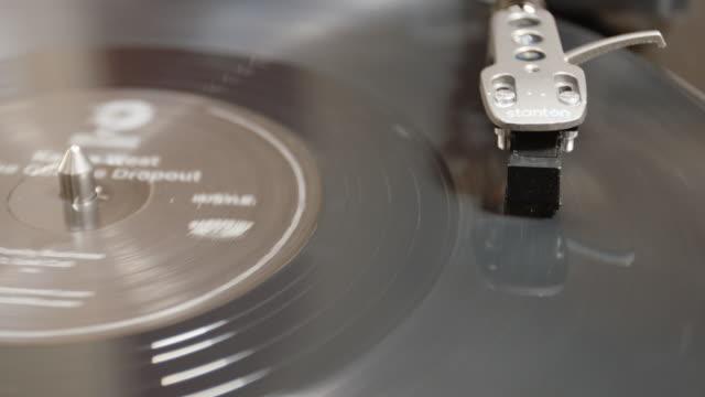 Vinyl Record Closeup - 4k