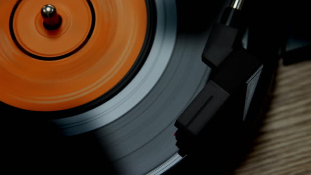 vinyl record on a turntable. - pop music stock videos & royalty-free footage