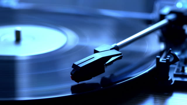 vinyl record playing on a turntable. - pop music stock videos & royalty-free footage