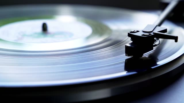 vinyl record spinning on turntable - automatic stock videos & royalty-free footage