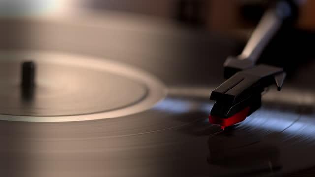 vinyl record, stylus, turntable. close up. - pop music stock videos & royalty-free footage