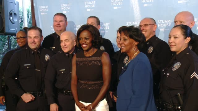 Viola Davis and Jackie Lacey at The Rape Foundation's Dedication Ceremony For The New Stuart House at The Rape Treatment Center on November 17 2015...