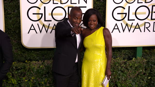Viola Davis and Julius Tennon at 74th Annual Golden Globe Awards Arrivals at 74th Annual Golden Globe Awards Arrivals at The Beverly Hilton Hotel on...