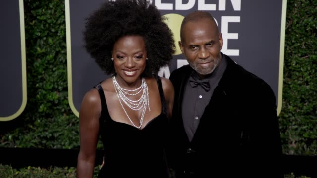 Viola Davis and Julius Tennon at the 75th Annual Golden Globe Awards at The Beverly Hilton Hotel on January 07 2018 in Beverly Hills California
