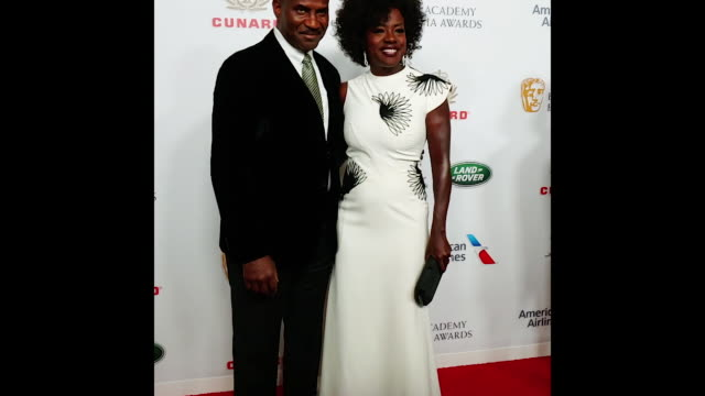 viola davis and julius tennon attend the 2018 british academy britannia awards presented by jaguar land rover and american airlines at the beverly... - the beverly hilton hotel stock videos & royalty-free footage