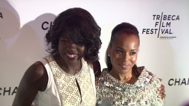 Viola Davis and Kerry Washington at the 8th Annual Tribeca Film Festival Chanel Dinner at New York NY