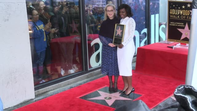 viola davis and meryl streep at the viola davis honored with star on the hollywood walk of fame at hollywood walk of fame on january 5 2017 in... - walk of fame stock videos & royalty-free footage