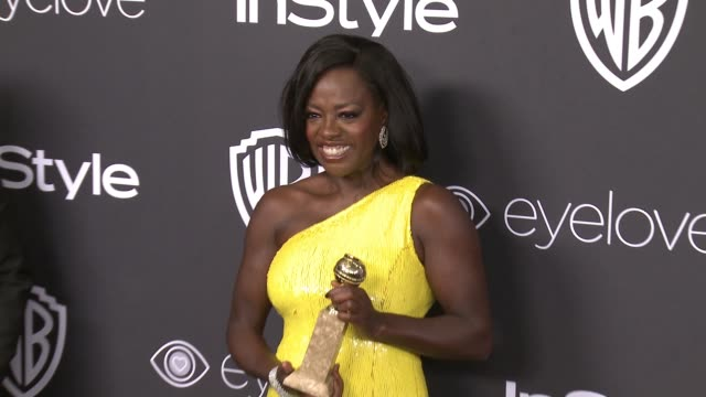 vídeos de stock, filmes e b-roll de viola davis at 18th annual instyle and warner bros pictures golden globes afterparty at the beverly hilton hotel on january 08 2017 in beverly hills... - viola davis