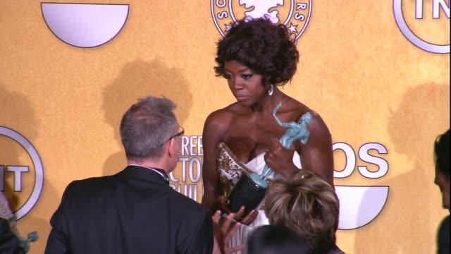 Viola Davis at 18th Annual Screen Actors Guild Awards Press Room on 1/29/12 in Los Angeles CA