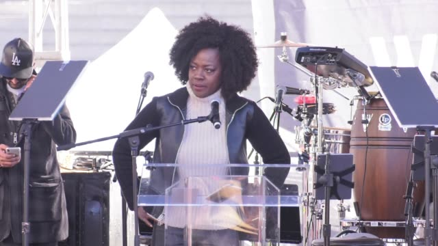 SPEECH Viola Davis at 2018 Women's March Los Angeles on January 20 2018 in Los Angeles California