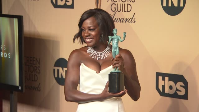 Viola Davis at 23rd Annual Screen Actors Guild Awards Press Room Photo Room at The Shrine Expo Hall on January 29 2017 in Los Angeles California