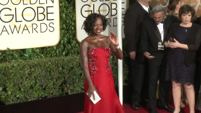 Viola Davis at 72nd Annual Golden Globe Awards Arrivals at The Beverly Hilton Hotel on January 11 2015 in Beverly Hills California