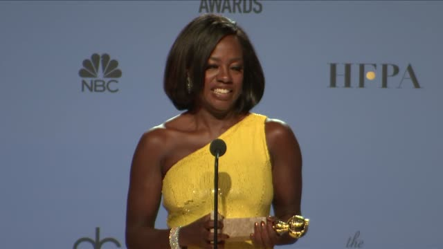 SPEECH Viola Davis at 74th Annual Golden Globe Awards Press Room at The Beverly Hilton Hotel on January 08 2017 in Beverly Hills California