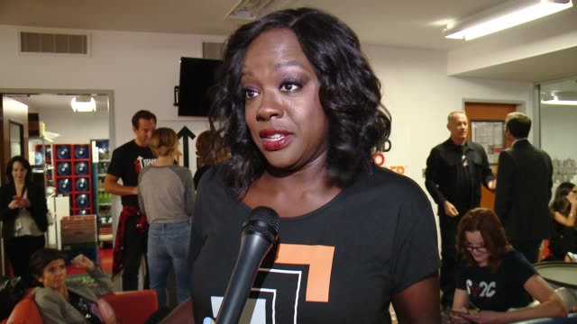 INTERVIEW Viola Davis at Stand Up To Cancer 2016 at Walt Disney Concert Hall on September 09 2016 in Los Angeles California
