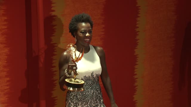 viola davis at the 2015 hbo emmy after party at the plaza at the pacific design center on september 20, 2015 in los angeles, california. - emmy awards stock-videos und b-roll-filmmaterial