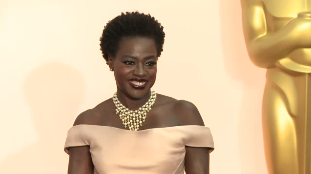 viola davis at the 87th annual academy awards arrivals at dolby theatre on february 22 2015 in hollywood california - the dolby theatre stock videos & royalty-free footage