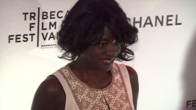 vídeos de stock, filmes e b-roll de viola davis at the 8th annual tribeca film festival chanel dinner at new york ny - viola davis