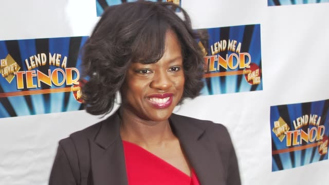 viola davis at the opening of 'lend me a tenor' arrivals at new york ny - lend me a tenor stock-videos und b-roll-filmmaterial