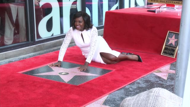 viola davis at the viola davis honored with star on the hollywood walk of fame at hollywood walk of fame on january 5 2017 in hollywood california - walk of fame stock videos & royalty-free footage