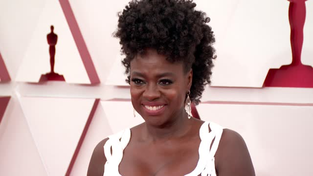 stockvideo's en b-roll-footage met viola davis at the 93rd annual academy awards - arrivals on april 25, 2021. - academy awards