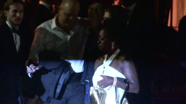 viola davis departs the sag awards after party at the shrine auditorium in los angeles celebrity sightings in los angeles ca on - shrine auditorium stock videos and b-roll footage
