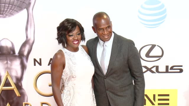 Viola Davis Julius Tennon at 47th NAACP Image Awards in Los Angeles CA