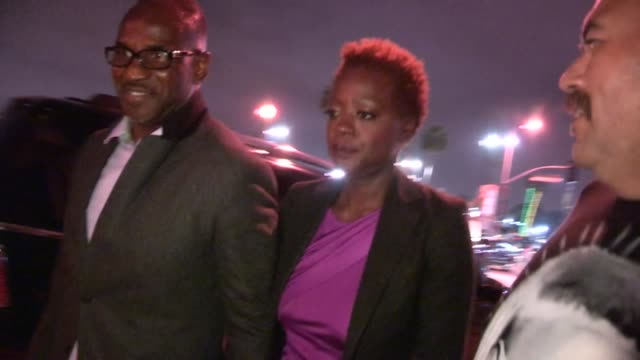Viola Davis Julius Tennon at The Book Of Mormon at the Pantages Theatre in Hollywood 09/12/12